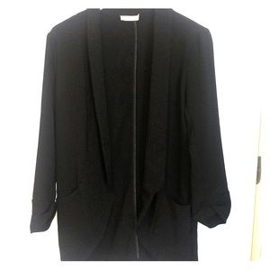 Lush size S black blazer with cropped sleeves